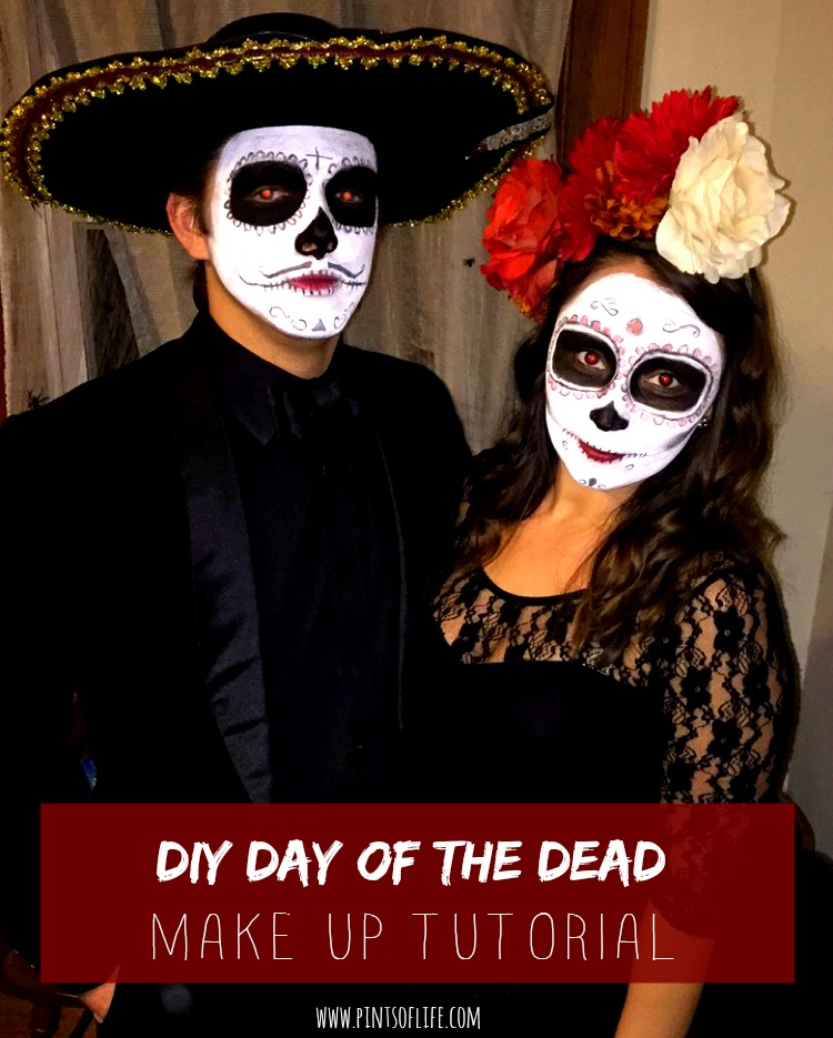 DIY day of the dead makeup