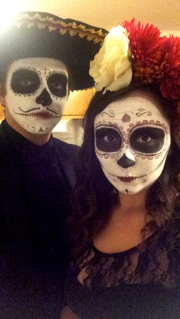 DIY sugar skull couple
