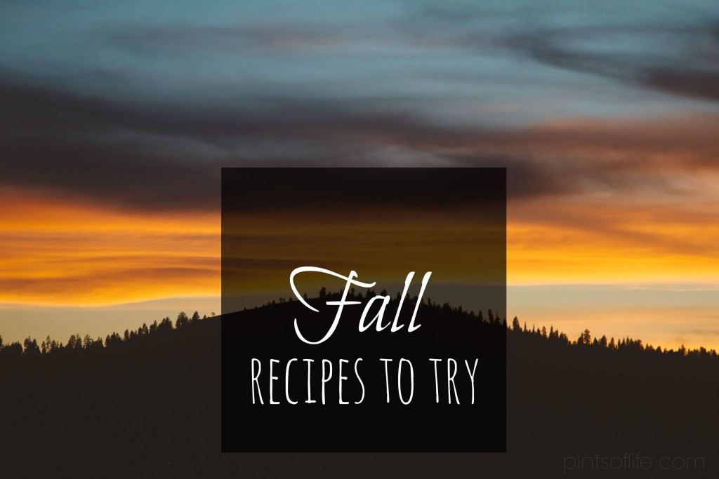 fall recipes to try
