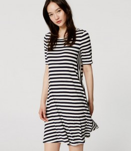 Stripped swing dress